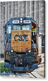 Stalled 7141 Acrylic Print by Guy Whiteley