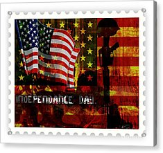 Stamp Your Freedom  Acrylic Print by Fania Simon