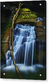 Standing In Motion Acrylic Print by Evelina Kremsdorf