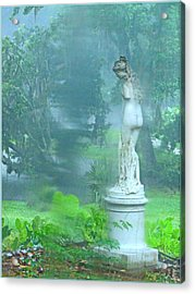 Standing In The Rain Acrylic Print by Mindy Newman
