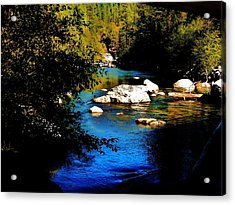 Stanislaus River Acrylic Print by Helen Carson
