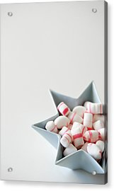 Star Bowl With Mint Candy Acrylic Print by Elin Enger