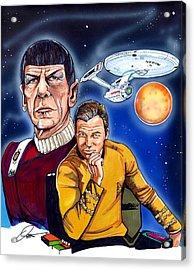 Star Trek Acrylic Print by Dave Olsen