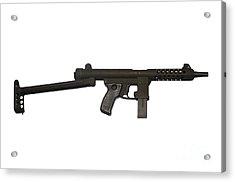 Star Z70b 9mm Submachine Gun Acrylic Print by Andrew Chittock