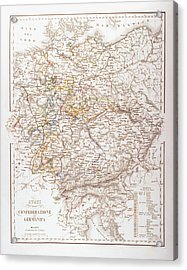 States Of The German Confederation Acrylic Print by Fototeca Storica Nazionale