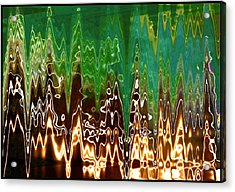 Static Frequency Acrylic Print by Ginny Schmidt