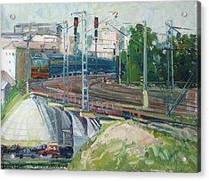 Station Near To Moscow Acrylic Print by Juliya Zhukova