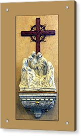 Station Of The Cross 14 Acrylic Print by Thomas Woolworth