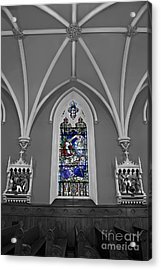 Stations Of The Cross Acrylic Print by Susan Candelario
