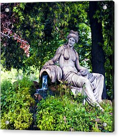 Statue In The Woods Acrylic Print by Fabrizio Troiani