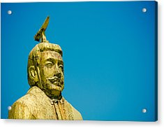 Statue Of Chinese Ancient Official Acrylic Print by Pan Hong