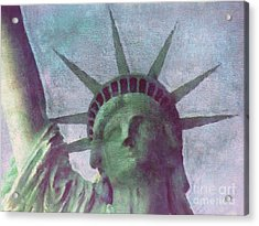 Statue Of Liberty Acrylic Print by Angela Doelling AD DESIGN Photo and PhotoArt