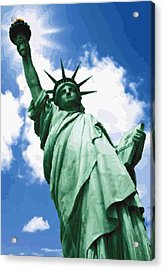 Statue Of Liberty Color 64 Acrylic Print by Scott Kelley