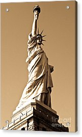 Statue Of Liberty Acrylic Print by Syed Aqueel