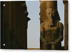 Statue Of Ramses II In The Luxor Temple Acrylic Print by Kenneth Garrett