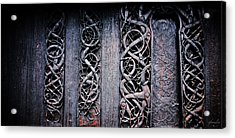 Stave Carving Acrylic Print by Chad Bromley