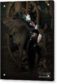 Steam Punk Fairy Acrylic Print by Georgina Hannay