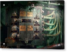 Steampunk - Naval - Electric - Lighting Control Panel Acrylic Print by Mike Savad