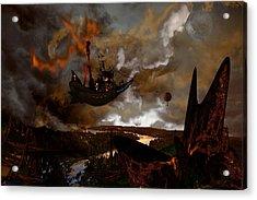 Steampunk - Steam Pirates Acrylic Print by Tony Marquez