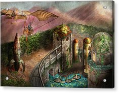 Steampunk - The Age Of Invention Acrylic Print by Mike Savad