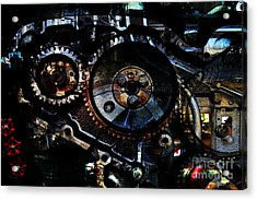 Steampunk Personal Decompression Chamber Model 39875da78803 Fully Accessorized Acrylic Print by Wingsdomain Art and Photography