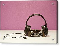 Stereophonic Camera Acrylic Print by Pedro Díaz Molins