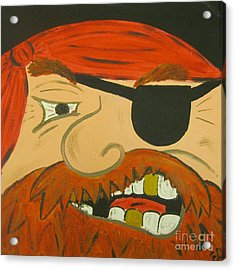 Steve The Pirate Acrylic Print by Eva  Dunham