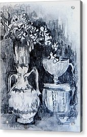 Still Life With Vases Acrylic Print by Jolante Hesse