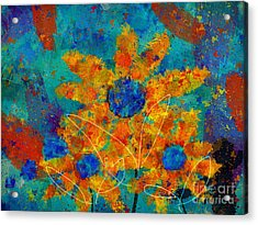 Stimuli Floral -s01t01 Acrylic Print by Variance Collections