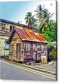 Stlucia - Rusted Shack Acrylic Print by Gregory Dyer
