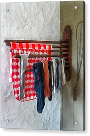 Stockings Hanging To Dry Acrylic Print by Susan Savad