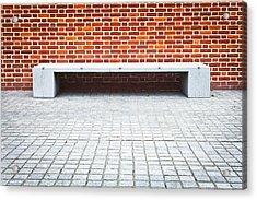 Stone Bench Acrylic Print by Tom Gowanlock