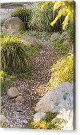 Stone Path Through Garden Acrylic Print by James Forte
