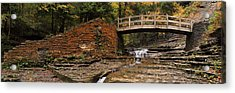 Stone Walls And Wooden Bridges Acrylic Print by Joshua House