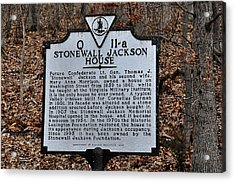 Stonewall Jackson House Acrylic Print by Todd Hostetter