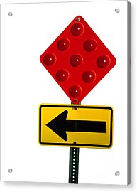 Stop And Turn Street Sign Acrylic Print by Blink Images