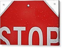 Stop Acrylic Print by Jarrod Erbe
