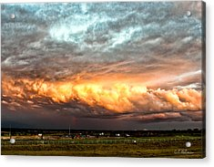 Storm Glow Acrylic Print by Christopher Holmes