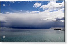 Storm On The Horizon Acrylic Print by Davandra Cribbie
