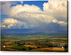 Storm Over The Kittitas Valley Acrylic Print by Mike  Dawson