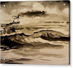 Stormy Arrival Acrylic Print by Scott Nelson