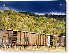Stormy Autumn Morning Sky Acrylic Print by Thomas R Fletcher