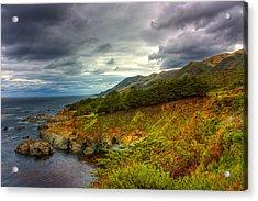 Stormy Coast Acrylic Print by Matt  Trimble