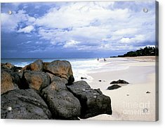 Stormy Sky Banzai Beach Acrylic Print by Thomas R Fletcher