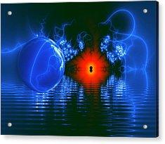 Strange Lights On The Lake Acrylic Print by Pam Blackstone