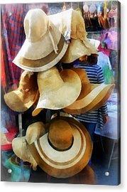 Straw Hats Acrylic Print by Susan Savad