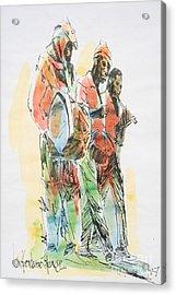 Street Band Acrylic Print by Carey Chen