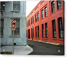 Street Corner Acrylic Print by Sharon Farris