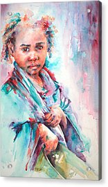 Street Life Acrylic Print by Stephie Butler