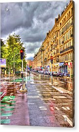 Street Of Niza Acrylic Print by David Armas